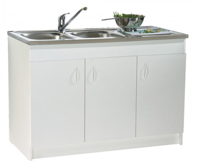 meuble sous vier 3 portes m lamin blanc 120x60. Black Bedroom Furniture Sets. Home Design Ideas