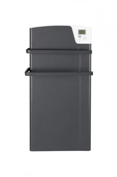 Sèche-serviette électrique Majorque soufflant 1400w gris ardoise